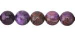 Purple Crazy Lace Agate Round 10mm