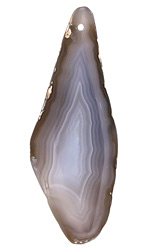 Gray Agate Freeform Slice w/ Natural Edge Focal 21-40x75-102mm