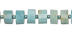 Black Gold Amazonite Faceted Disc 3-6x8-9mm