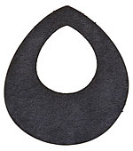 Lillypilly Black Leather Large Open Teardrop 49x54mm