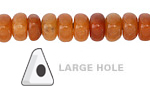 Red Aventurine Triangle Rondelle (Large Hole) 10mm