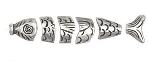 Greek Pewter Worry Fish 80mm
