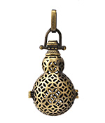 Antique Brass (plated) Gourd Diffuser Locket 21x51mm