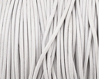 White Round Leather Cord 1.5mm