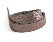 "TierraCast Antiqued Bronze Leather Strap 10"" x 1/2"""