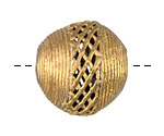 African Brass Lattice Round 28mm