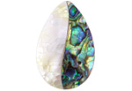 Abalone & Mother of Pearl Mosaic Teardrop Focal 22x32mm