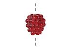 Grace Lampwork Raspberry Focal 10x16mm
