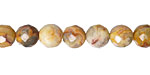 Crazy Lace Agate (yellow) Faceted Round 8mm