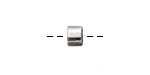 Zola Elements Antique Silver (plated) Grooved Barrel Bead Slide 5x7mm