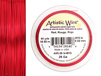 Artistic Wire Red 28 gauge, 40 yards