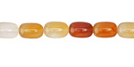 Carnelian (natural) Barrel 9x6mm