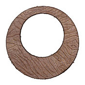 Lillypilly Golden Brown Zebra Embossed Leather Large Open Round 50mm