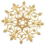 Brass Snowflake Filigree 46mm
