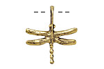 Greek Antique Gold (plated) Dragonfly Pendant 25x28mm