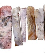 Pink Opal Slices 8-15x17-61mm