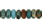 Turquoise Impression Jasper Rondelle 7x14mm