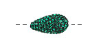Emerald Pave (w/ Preciosa Crystals) Teardrop 19x10mm (1.5mm hole)