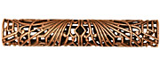 Stampt Antique Copper (plated) Long Deco Filigree Tube 52x9mm