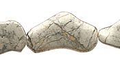 Golden Pyrite (silver tone) Flat Freeform Slab 20-45x13-22mm
