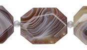 Botswana Agate Faceted Flat Slab 28-38x22-30mm
