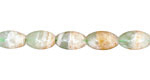 Green Fluorite w/ Quartz Rice 10x6mm