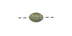 Zola Elements Patina Green Brass Pear Leaf 9x6mm