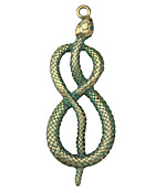 Zola Elements Patina Green Brass (plated) Serpent Pendant 21x56mm