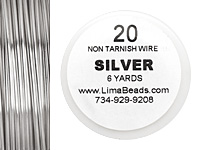 Parawire Non-Tarnish Silver 20 gauge, 6 yards