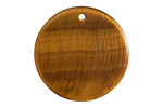 Tiger Eye Thin Coin Pendant 30mm
