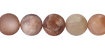 Peach Moonstone (matte-multi) Round 10mm