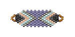Iris Hand Woven Focal Piece 36x12mm