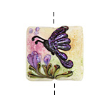 Grace Lampwork Pink Sparkle Garden Butterfly Pillow 26mm