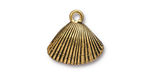 TierraCast Antique Gold (plated) Shell Charm 18x17mm