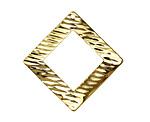 Zola Elements Gold (plated) Raked Wavy Open Diamond Drop 34mm