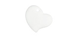 Crystal Recycled Glass Puffed Sweeping Heart Pendant 19x18mm