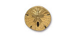TierraCast Antique Gold (plated) Sand Dollar Button 16mm