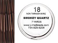 Parawire Smoky Quartz 18 gauge, 7 yards