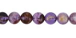 Purple Phantom Quartz Round 8mm