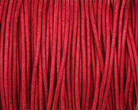 Natural Cyclamen Round Leather Cord 2mm