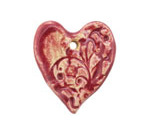Gaea Ceramic Raspberry Jam Romantic Heart 34x29mm