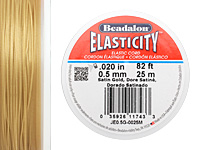 Elasticity Satin Gold .5mm, 25 meters