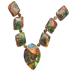 Mardi Gras (Mixed Impression) Jasper Mixed Pendant Set 13-35mm