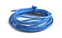 Weathered Azure Leather Cord 2mm