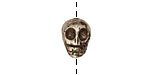 Golden Pyrite (silver tone) Skull 12x10mm