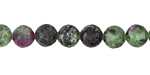 Ruby Zoisite Faceted Round 8mm