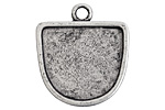 Nunn Design Antique Silver (plated) Grande Half Oval Pendant 28x5x31.5mm