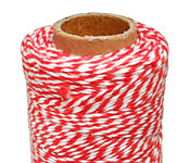 Red/White Bakers Twine 2 ply, 410 ft