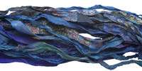 Indigo 100% Silk Sari Ribbon