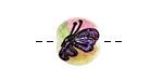 Grace Lampwork Pink Sparkle Garden Butterfly Lentil 14x15mm
